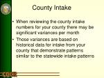 county intake