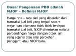 dasar pengenaan pbb adalah njop definisi njop
