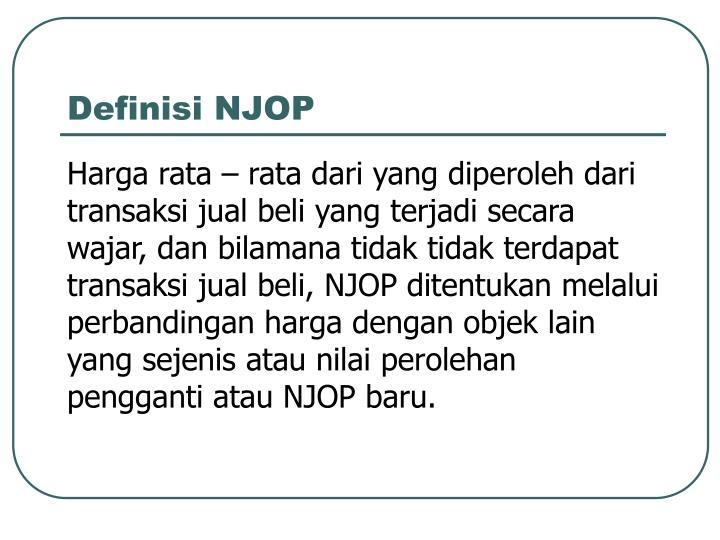 Definisi NJOP