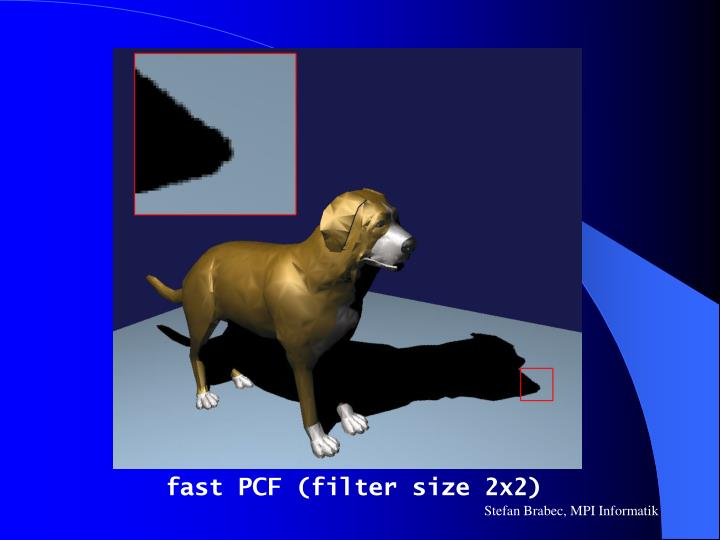 fast PCF (filter size 2x2)