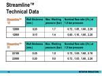streamline technical data1