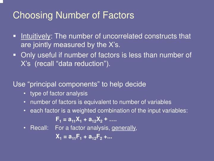 Choosing Number of Factors