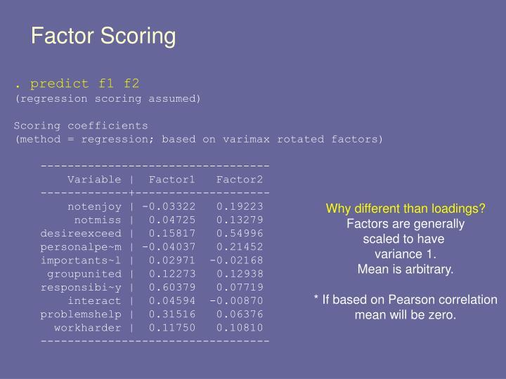 Factor Scoring