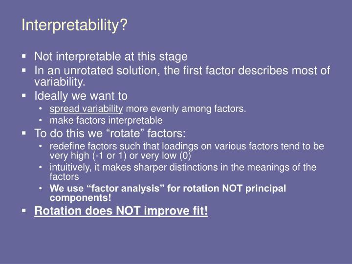 Interpretability?