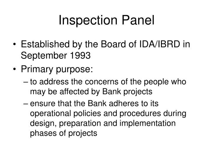 Inspection Panel