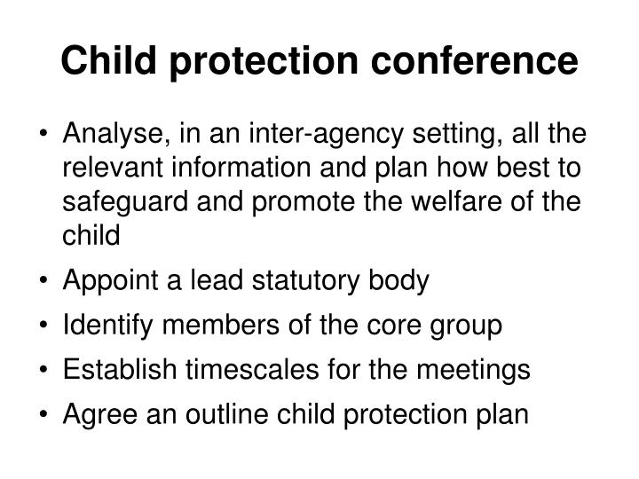 Child protection conference