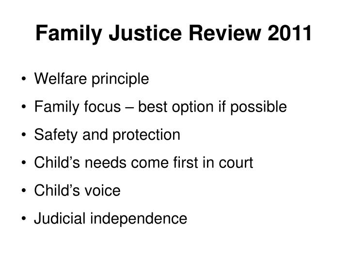 Family Justice Review 2011