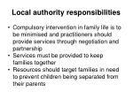 local authority responsibilities