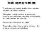 multi agency working1