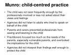 munro child centred practice