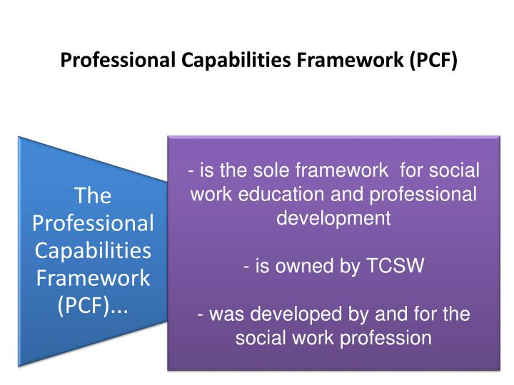 Professional Capabilities Framework (PCF)