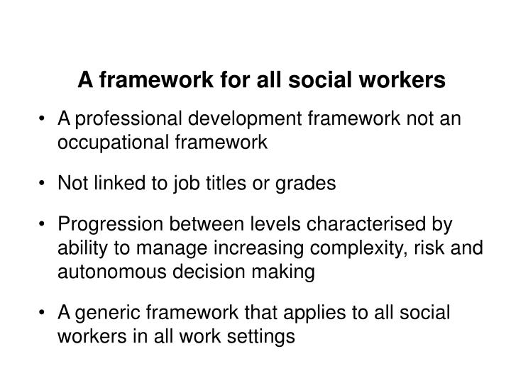 A framework for all social workers