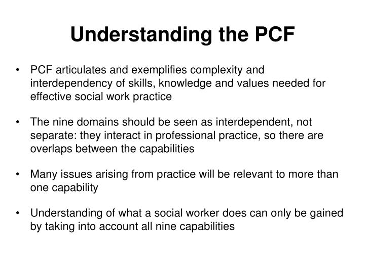 Understanding the PCF