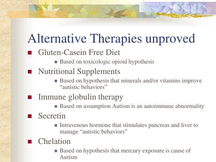 Alternative Therapies unproved
