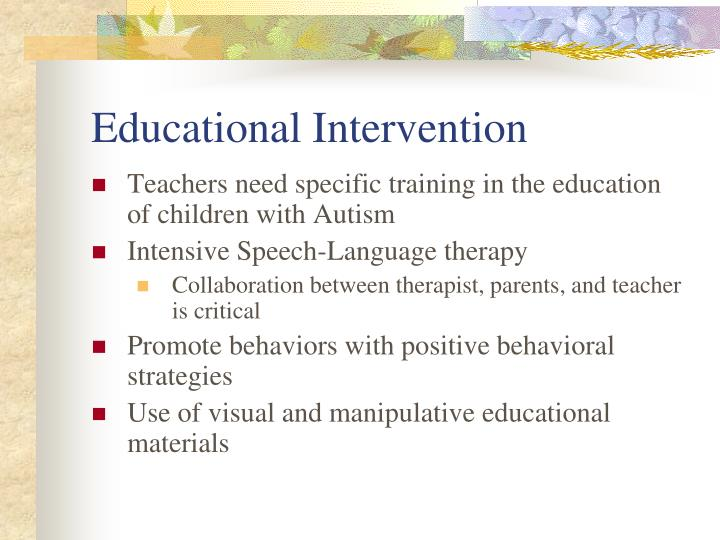 Educational Intervention