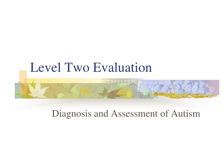 Level Two Evaluation