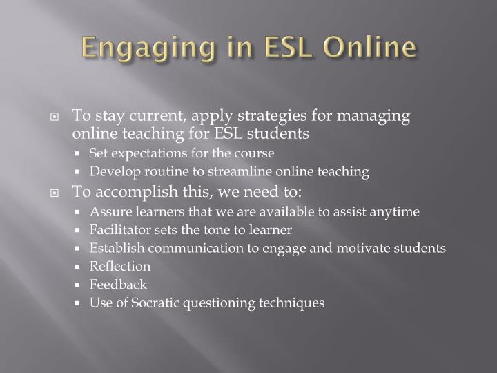 Engaging in ESL Online