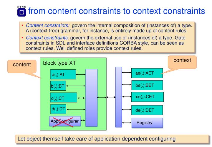 from content constraints to context constraints