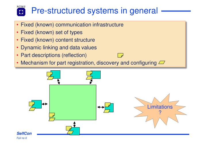 Pre-structured systems in general