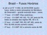 brasil fusos hor rios