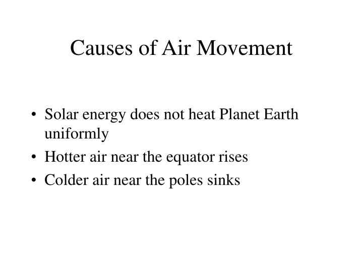 Causes of Air Movement