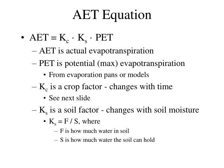AET Equation
