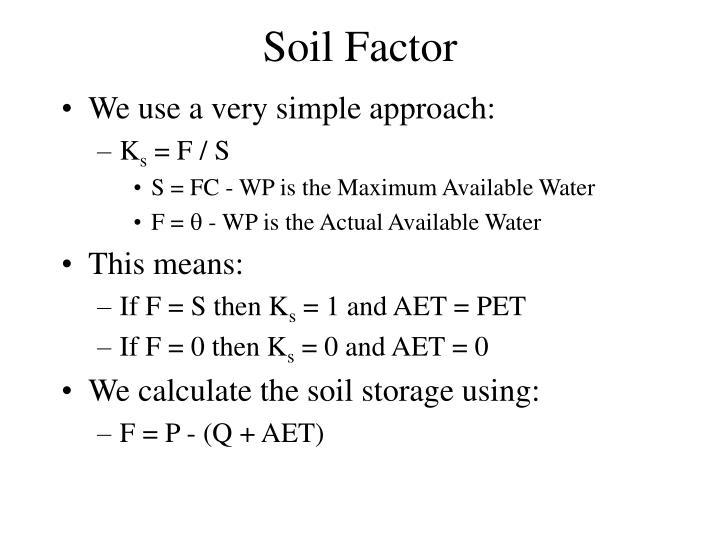Soil Factor
