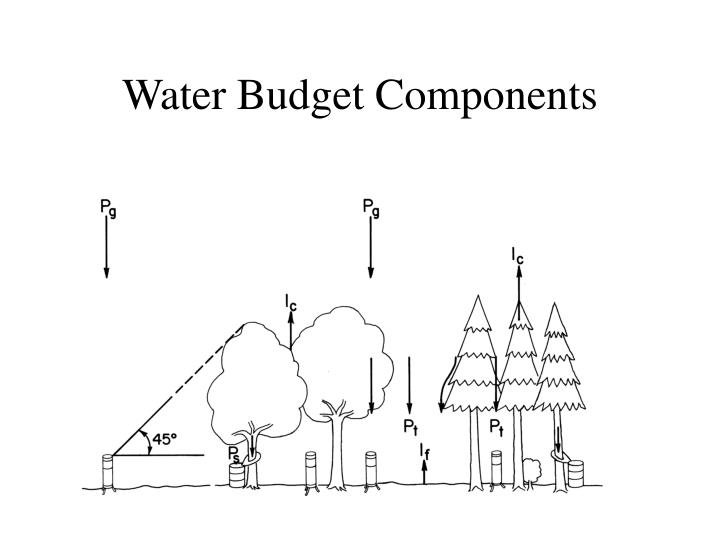 Water Budget Components