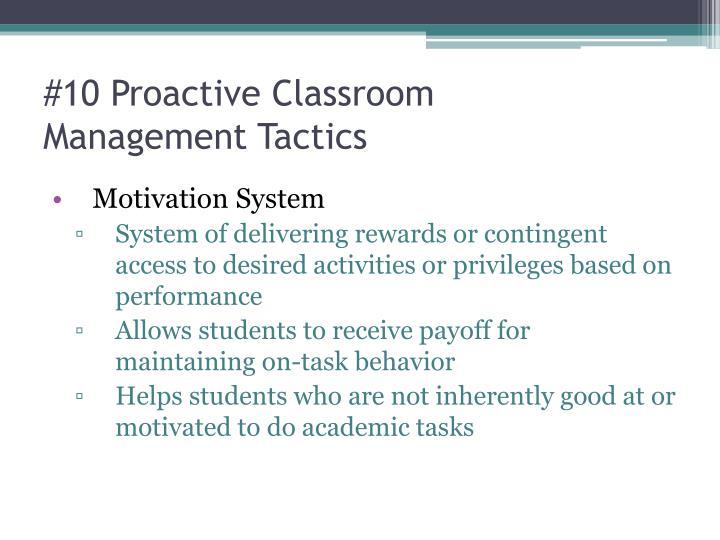 #10 Proactive Classroom