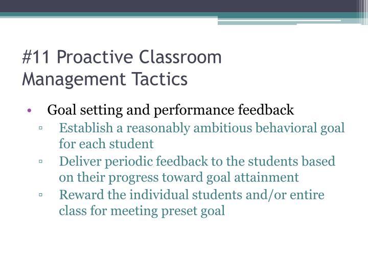 #11 Proactive Classroom