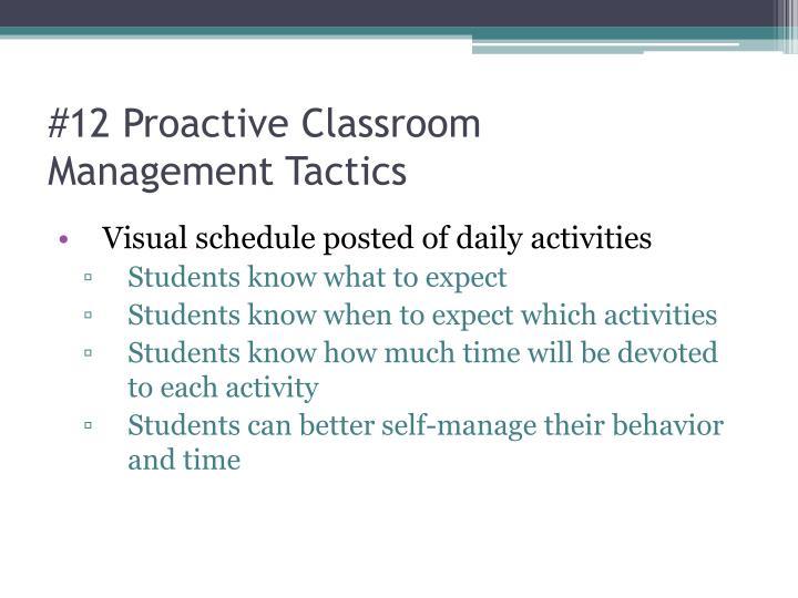 #12 Proactive Classroom