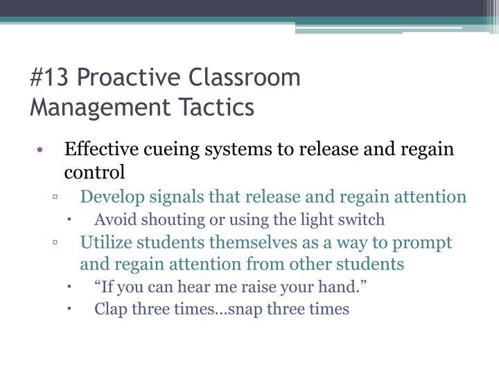 #13 Proactive Classroom