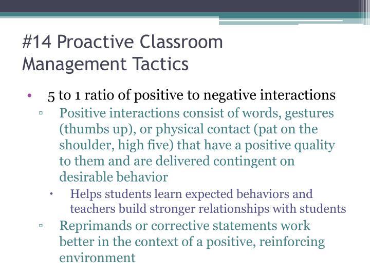 #14 Proactive Classroom