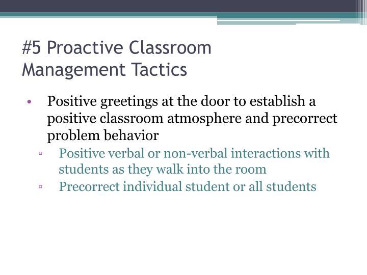 #5 Proactive Classroom