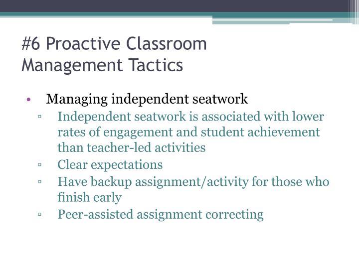 #6 Proactive Classroom