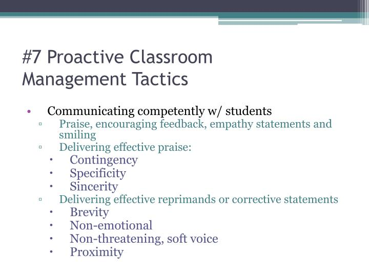 #7 Proactive Classroom