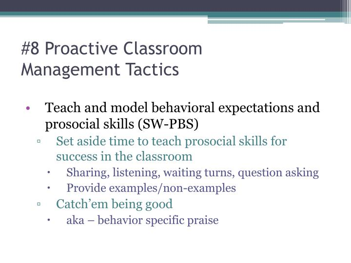 #8 Proactive Classroom