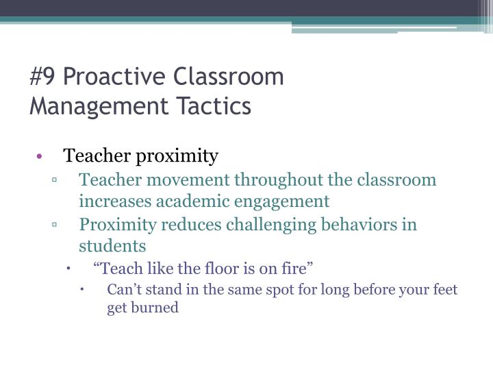 #9 Proactive Classroom