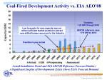 coal fired development activity vs eia aeo 08