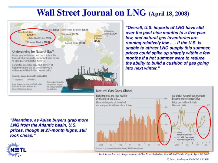 Wall Street Journal on LNG