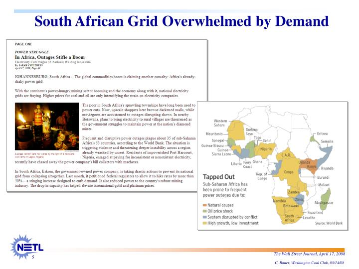 South African Grid Overwhelmed by Demand