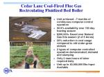 cedar lane coal fired flue gas recirculating fluidized bed boiler