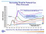 increasing trend in natural gas price forecasts