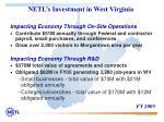 netl s investment in west virginia