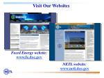 visit our websites