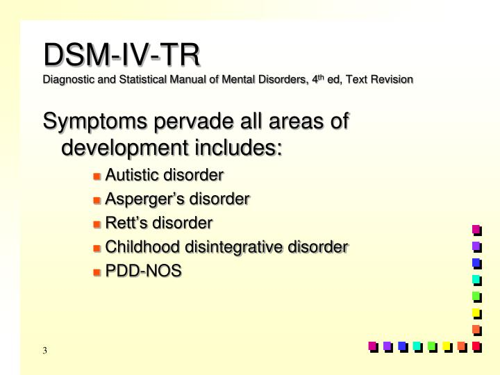 Dsm iv tr diagnostic and statistical manual of mental disorders 4 th ed text revision
