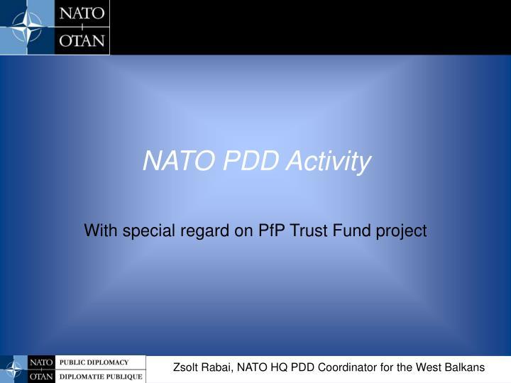 NATO PDD Activity