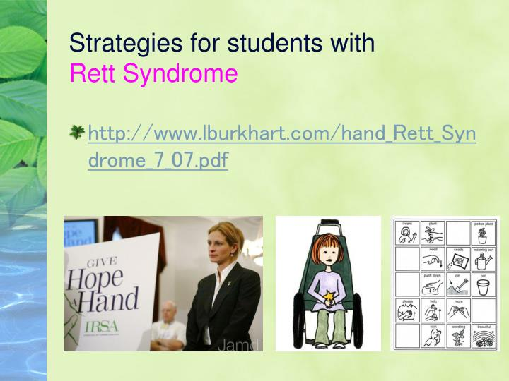 Strategies for students with
