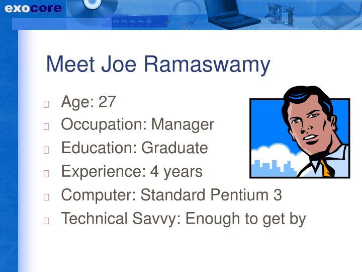 Meet Joe Ramaswamy
