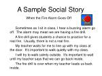 a sample social story